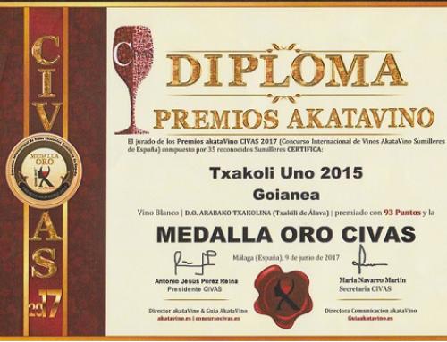 La Pequeña DO Txakoli de Araba recibe varios premios