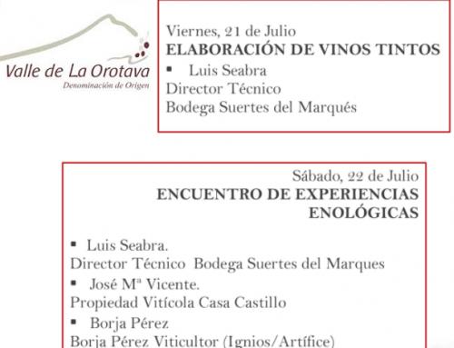 La Pequeña DO Valle de la Orotava organiza en el mes de julio jornadas enológicas