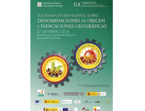 La Universidad de Alicante organiza las 2ª Jornadas Sobre Denominaciones de Origen