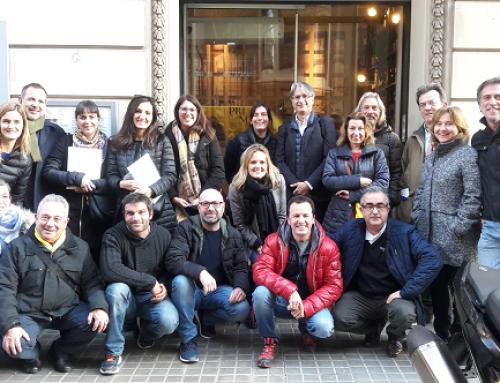 Las bodegas de la DO Pla del Bages visitan los establecimientos de promoción del vino y el enoturismo de Barcelona