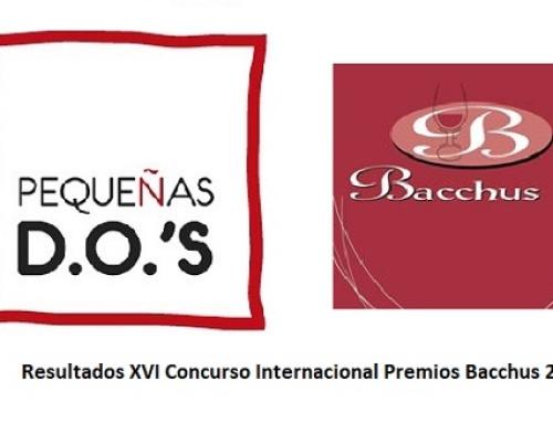 Nuestras Pequeñas D.O.'s reciben un total de 60 distinciones en la XVI edición 2018 de los Premios Bacchus