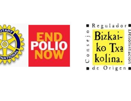 El Club Rotary de Bilbao selecciona un Bizkaiko Txakolina para una campaña benéfica