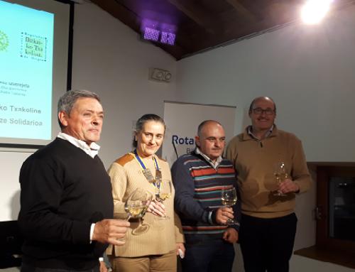 El Club Rotary de Bilbao selecciona el txakoli Ieup! de la bodega Magalarte Lezama para una campaña benéfica