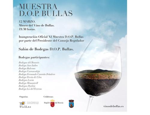 La Pequeña DO Bullas presenta sus vinos en el XII Salón de los Vinos de Bullas del próximo 12 de marzo