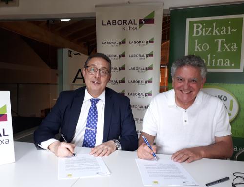 La DO Txakoli de Bizkaia y Laboral Kutxa firman un acuerdo de colaboración