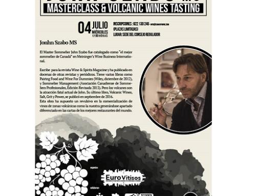 El gurú mundial de los vinos volcánicos John Szabo, estará esta semana en Canarias de la mano del proyecto europeo Eurovitisos y Canary Wine