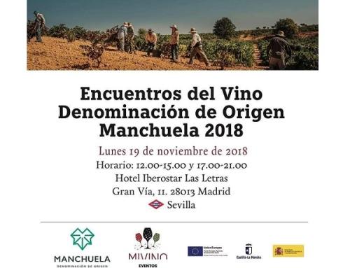 La Pequeña DO Manchuela se presenta el próximo lunes 19 de noviembre en Madrid