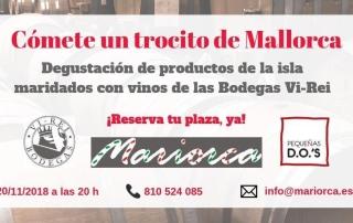 Foto cata maridada Vinos de Mallorca 20-11-18