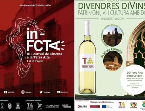 Los vinos de la Pequeña DO Terra Alta maridan con la cultura en agosto