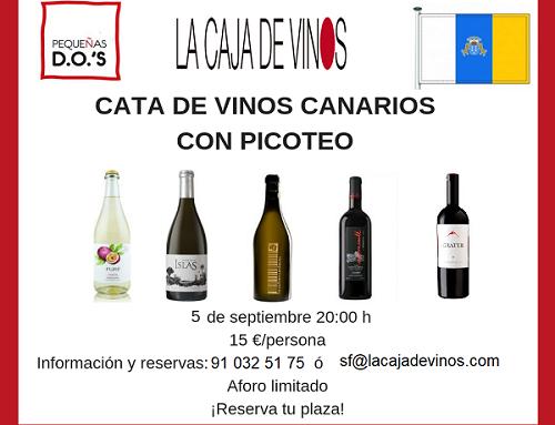 Cata de vinos canarios en La Caja de Vinos