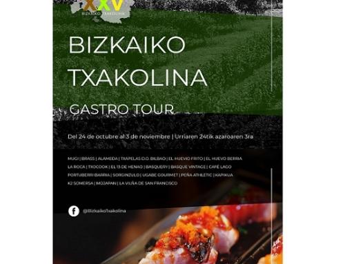 Gastrotour, oportunidad de maridar pintxos de Bilbao con el mejor Bizkaiko Txakolina