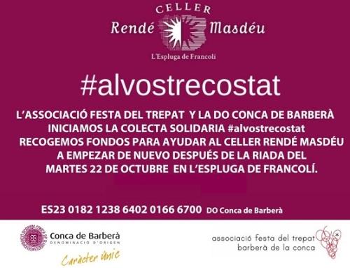 Solidaridad con la Bodega Rende Masdeu de la Pequeña DO Conca del Barberá
