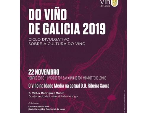 Hoy conferencia sobre los orígenes medievales del vino en la Pequeña DO Ribeira Sacra