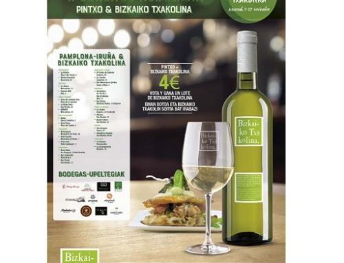La 2ª edición del Campeonato de Maridaje de Pintxos con vinos de la Pequeña DO Txakoli de Bizkaia se celebrará este año entre los días 7 y 17 de noviembre en Pamplona