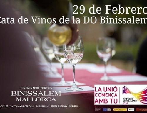 Cata de Vinos de la Pequeña D.O. Binissalem por el Dia de Baleares