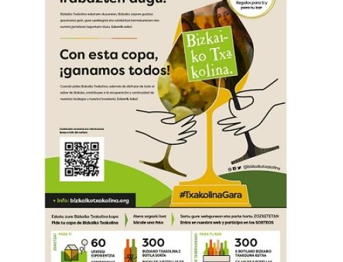 La Pequeña DO Txakoli de Bizkaia lanza una campaña para reactivar la hostelería