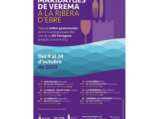 Primera edición de los Maridajes de Vendimia con la restauración de la Ribera de Ebro y las bodegas de la Pequeña DO Tarragona