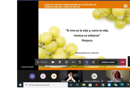 Finaliza el Curso de Comunicadores de las Pequeñas D.O.'s Málaga, Sierras de Málaga y Pasas de Málaga