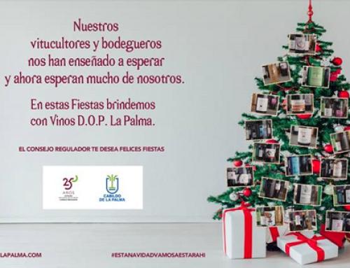 La Pequeña DO La Palma felicita las Navidades y anima a sus bodegueros ante los 3 grandes problemas de esta Pequeña D.O.: COVID, envejecimiento y sequía