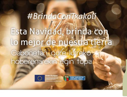 La Pequeña DO Txakoli de Bizkaia impulsa diversas acciones para promocionar la presencia de sus vinos en las mesas navideñas