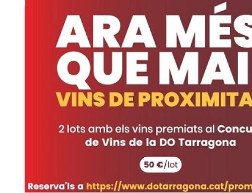 Los vinos de la pequeña DO Tarragona, inician una campaña de promoción para la venta de vinos de proximidad