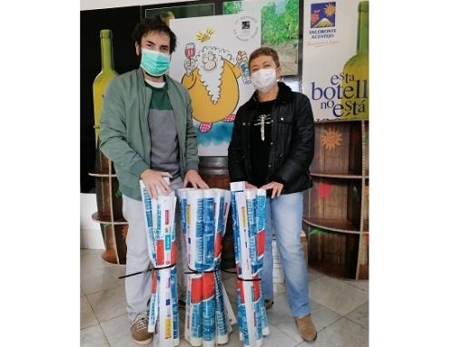 La Pequeña DO Tacoronte Acentejo apuesta por la sostenibilidad, reciclando sus lonas publicitarias
