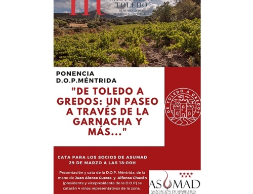 La Pequeña DO Méntrida, presenta hoy sus vinos en ASUMAD