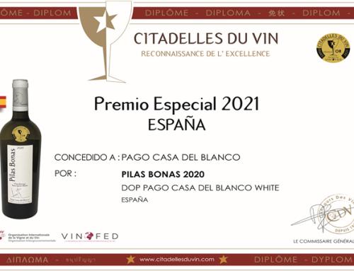 """Pilas Bonas 2020 de la Pequeña DO Casa del Blanco obtiene la nota al mejor vino español en el Concurso """"Ciudades del Mundo 2021"""""""