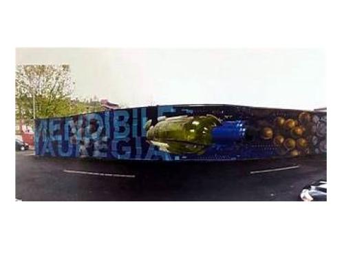 El artista Aritz Muguerza recoge hoy el premio por su trabajo en los muros de la Pequeña DO Txakoli de Bizkaia